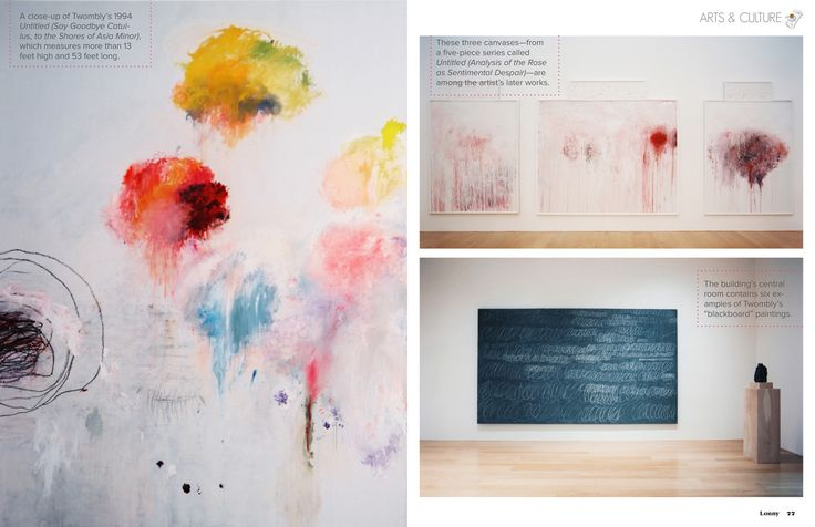 the Cy Twombly galleries in the Dominique and John de Menil collection  January / February 2013 - Lonny Magazine - Lonny