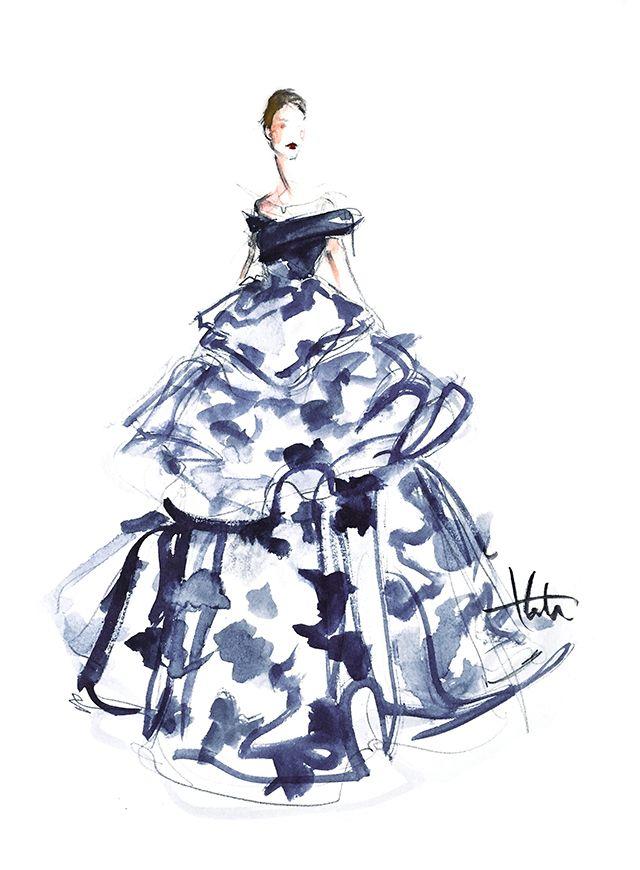 Gli abiti più belli degli Oscar in versione acquerello. I bozzetti poetici di…