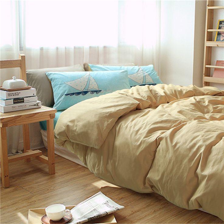 Современные роскошные постельные принадлежности устанавливает мягкий хлопок пододеяльники набор Nordic стиль постельное белье синий покрывало твин королева покрывала плоский лист
