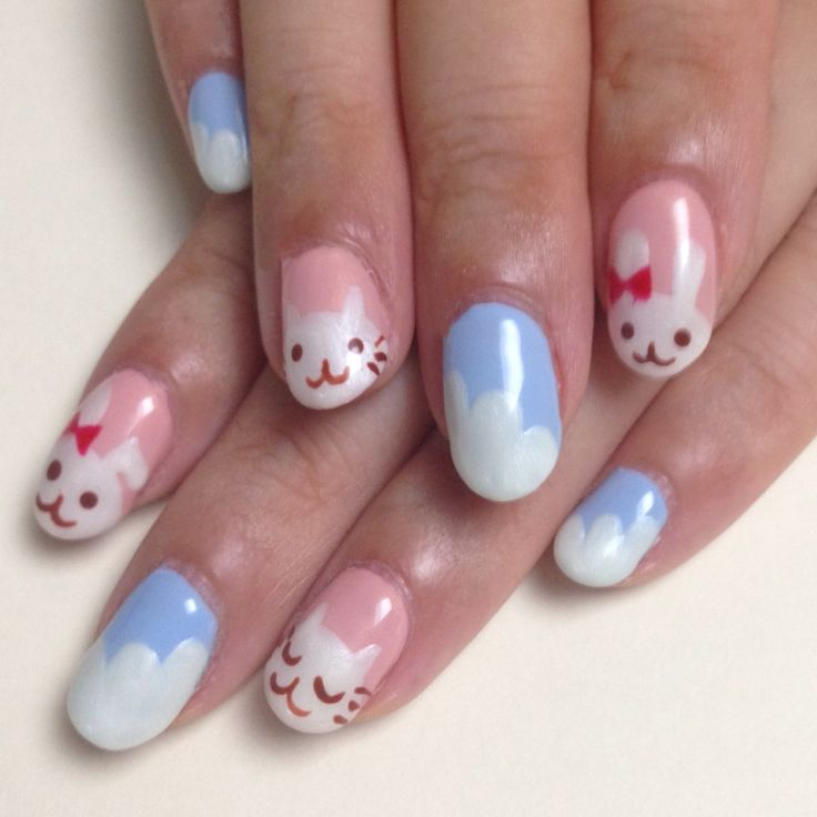 26 best rabbit nail art images on pinterest nail art beautiful rabbit cat nail art cat nails cute prinsesfo Image collections