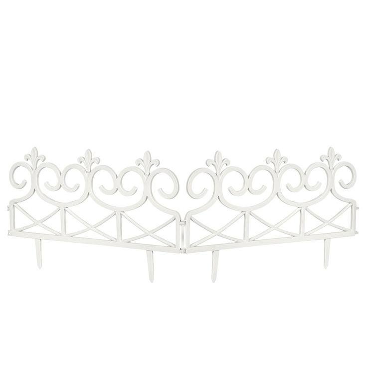www.sconticasa.it  Recinzione in polipropilene composto da 2 pezzi con snodo centrale  Colore Bianco