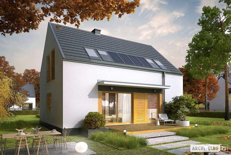 Dom E12 ECONOMIC to harmonia czystych połączeń w energooszczędnej formie. W przestrzeni dwóch kondygnacji zaplanowano czytelny podział stref. Na parterze mieści się wygodny, przestronny salon, połączony z jadalnią oraz kuchnią, a także komfortowy gabinet, który w razie potrzeby, może pełnić...