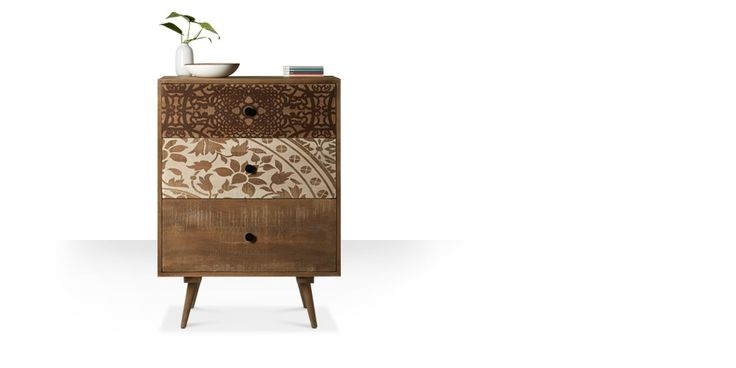 Swoon Editions Chest of drawers, Mid-century style in Mango wood - £199