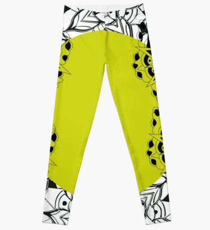 Mandala yellow Leggings