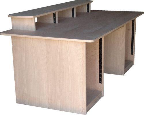 details about studio desk producer workstation production recording sound desks pd2v oak. Black Bedroom Furniture Sets. Home Design Ideas