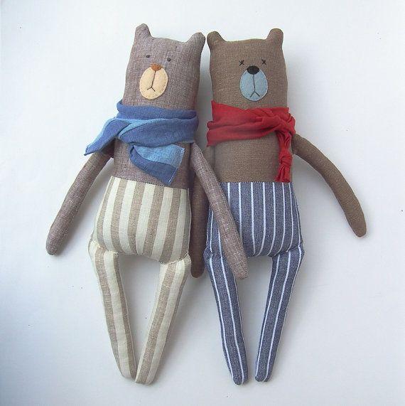 GARDER les ours en peluche jouet jouet linge par CherryGardenDolls                                                                                                                                                                                 Plus