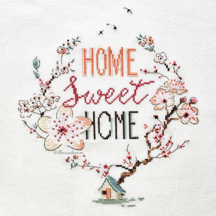 Home sweet home - cross stitch / Helene Le Berre