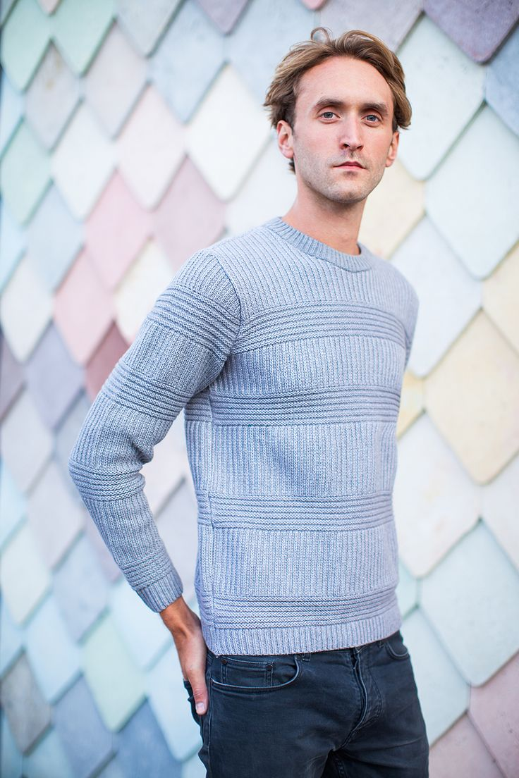 KNITWEAR: Mens Jumper in Rib and Links placement by Genevieve Sweeney