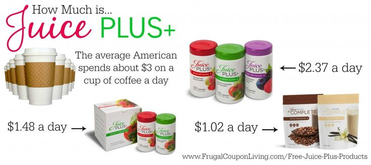 Pick up FREE Juice Plus Products including Children's Fruit and Veggie Chewables & a $50 Credit for you (Protein Powder, Cheweables, Capsules, or Bars!) All this for LESS THAN A CUP OF COFFEE!  http://www.frugalcouponliving.com/free-juice-plus-products/