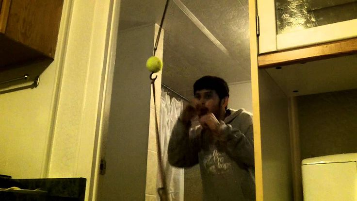 Tennis ball double end bag : Good home workout