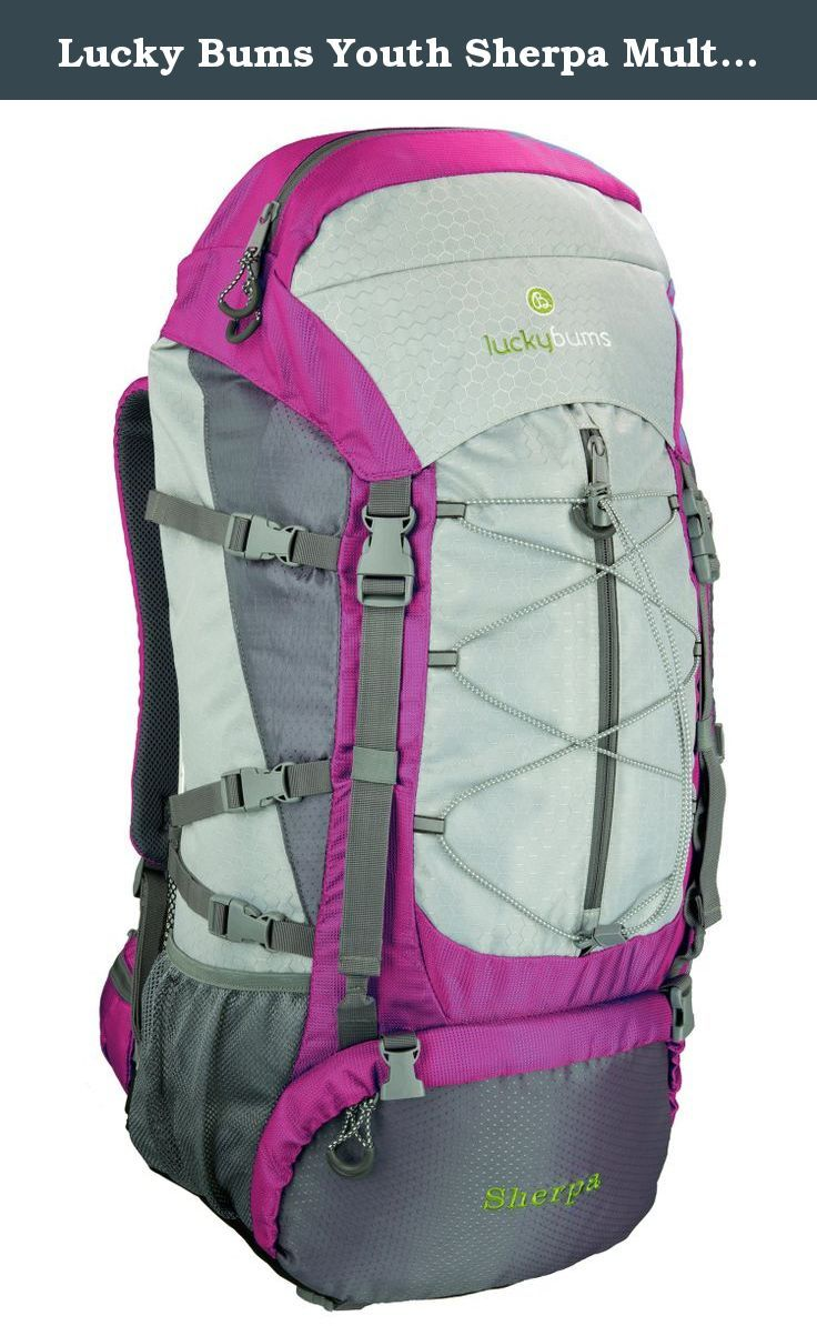 Lucky Bums Youth Sherpa Multi-Night Backpack, Pink, 60-Liter. Multi-night pack made specifically for young hikers. Designed to meet the demands of serious backpackers who are still growing, the pack's design allows all the needed features and adjustability to allow a perfect fit for any young outdoor enthusiast.