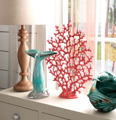 Artificial / Faux Corals for Decor... http://www.completely-coastal.com/2011/06/artificial-faux-corals-for-decor.html Decorative coral sculptures in many styles and colors!