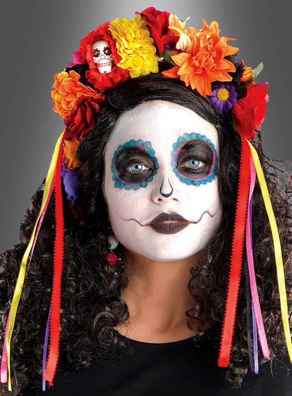 Sugar Skull Blumen Haarreif
