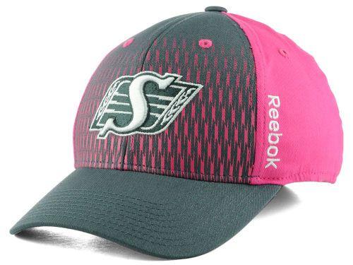 Saskatchewan Roughriders Reebok CFL Pink Flexfit Cap Hats from Jersey City