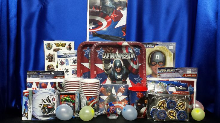 Captain America Party Set # 22 Captain America Party Supplies Deluxe Set