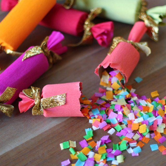 DIY crackers à confettis / faire des confettis / diy nouvel an