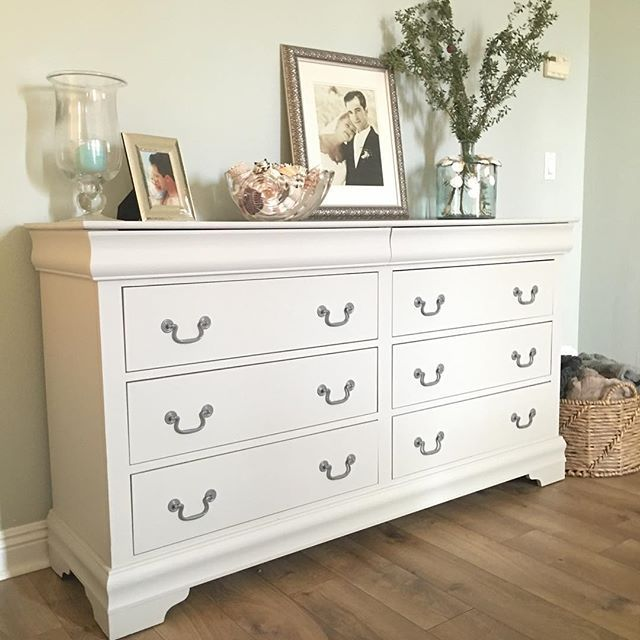 A new look for an old dresser. This old cherry wood dresser was one step away…