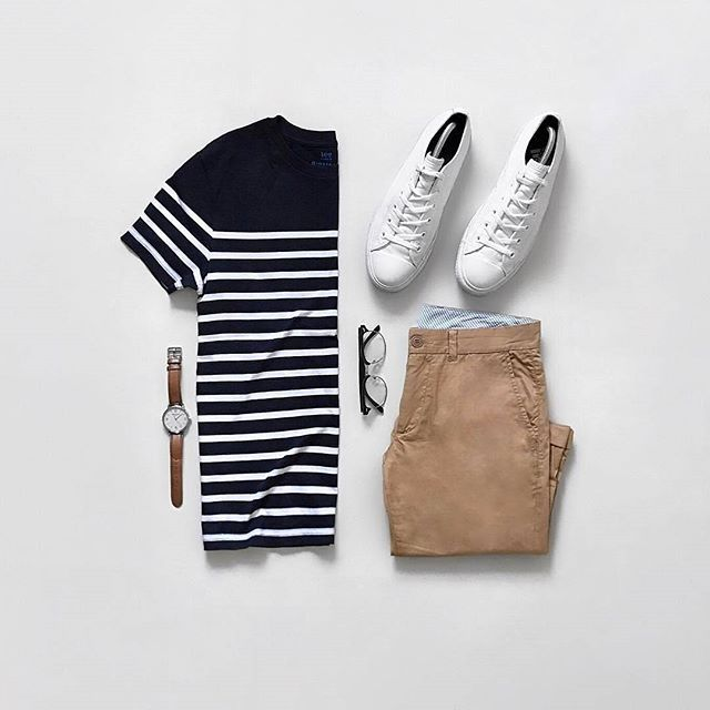 Fresh New Outfit By @jeromeguerzon . . . Download Capsule Wardrobe Guide. LINK IN BIO @capsulewardrobemen . . . #mensfashion #outfitgrid #flatlay #vscogrid