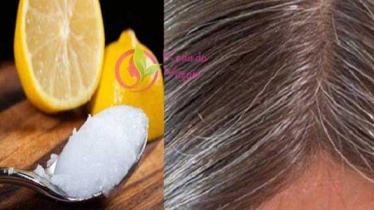 Beyaz Saçlar İçin Hindistan Cevizi Yağı ve Limon Karışımı