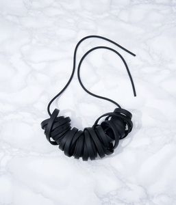 rubber tape necklace by alienina