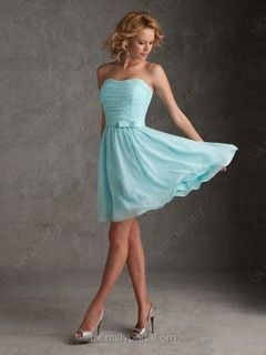 A-line Sweetheart Chiffon Short/Mini Ruffles Bridesmaid Dresses #01012080