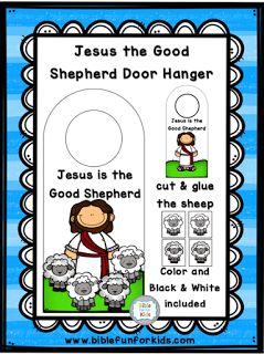 Jesus the Good Shepherd Door Hanger