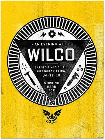 wilco: Picture-Black Posters, Wilco Posters, Gig Posters, Mikey Burton, Posters Design, Graphics Design, Cars Accessories, Prom Dresses, Concerts Posters