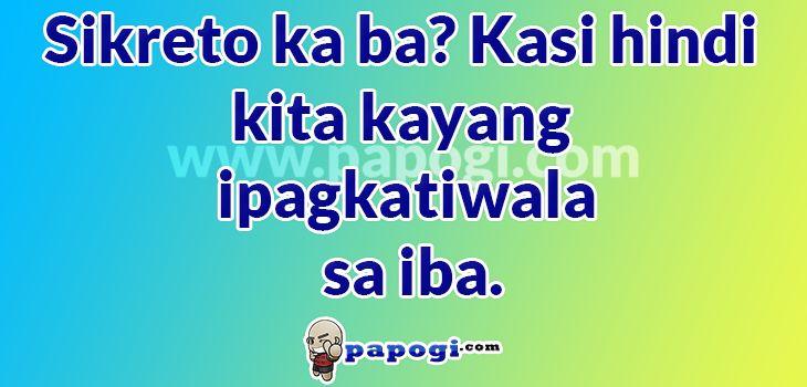 thesis jokes tagalog Tagalog pick-up lines collection 004 ide-delete na kita as facebook friend ayoko kasi na friends lang tayo sana ako na lang si barney para i love you, you love me.