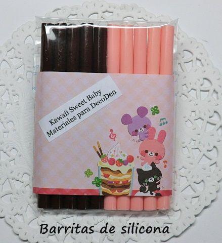 Barritas de silicona para pistola caliente paquete de 2 colores.