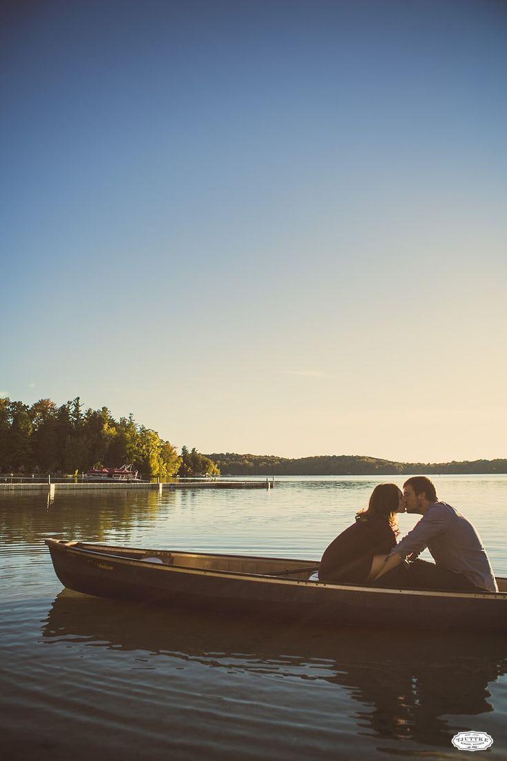 Danielle + Paul | Elkhart Lake Sunset Engagement Photography
