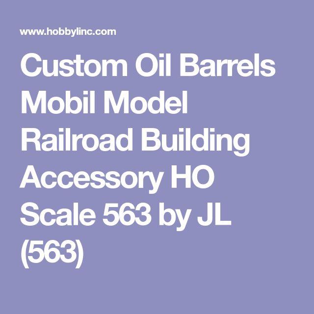 Custom Oil Barrels Mobil Model Railroad Building Accessory HO Scale 563 by JL (563)