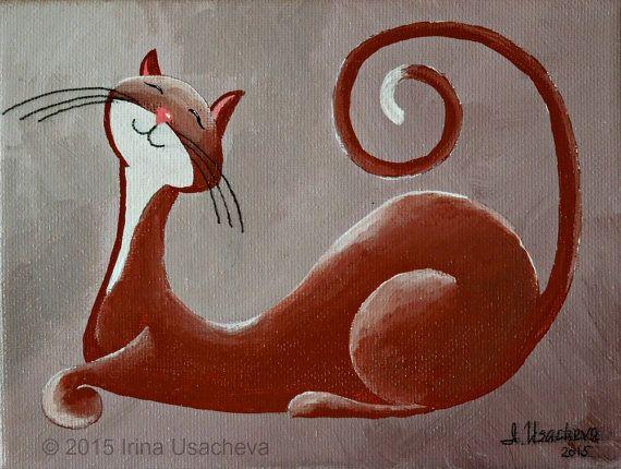 Origineel schilderij te koop: Fantasy kat door NaturelandsAndCo