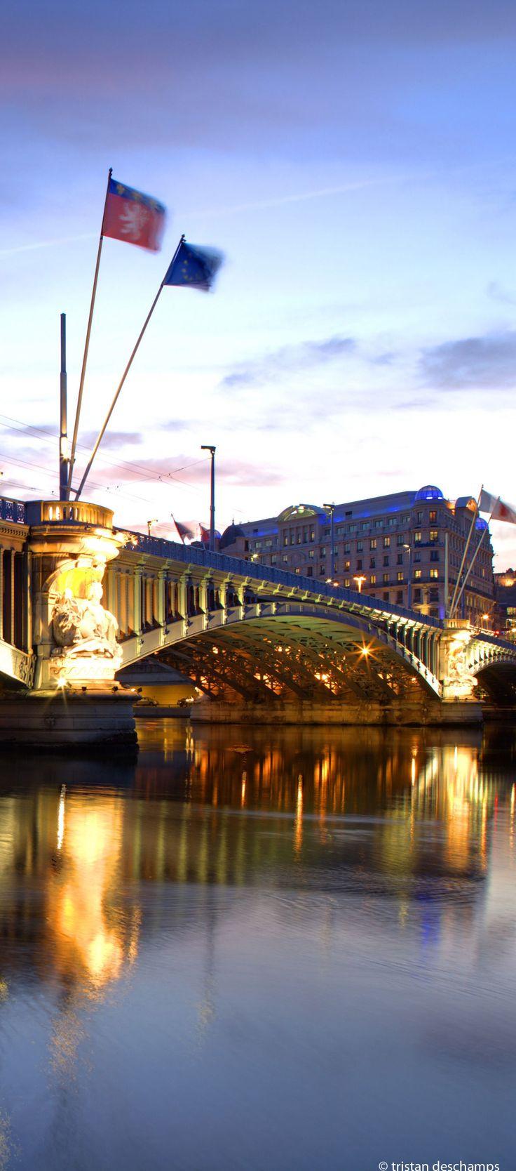 Rhone et pont la fayette, Lyon