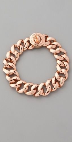 Marc by Marc Jacobs  Turnlock Small Katie Bracelet  Style #:MARCJ41533  $68.00: Bracelets, Marc Jacobs, Marcjacobs, Jacobs Turnlock, Rose Gold