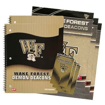 Get ready for Back to School early with the Wake Forest Combo School Pack!  Only $15.95!