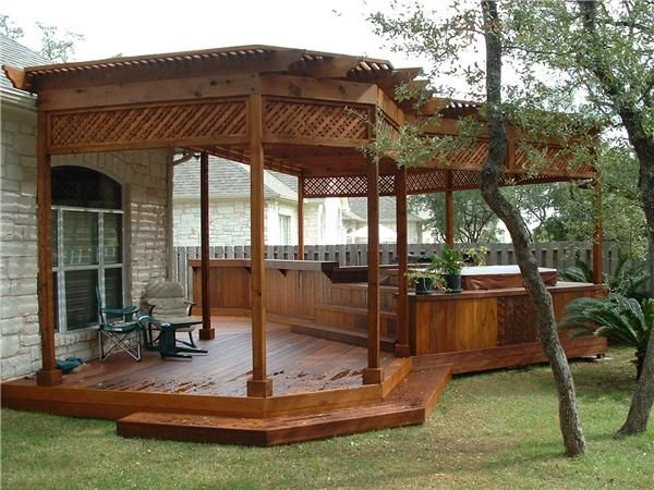 Hmmmm...we are planning on getting a hot tub.  This is a nice looking idea.