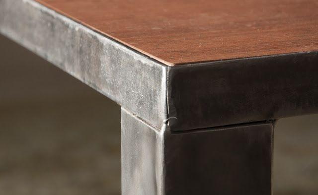 : : : Mesa Mondrian : : : Hierro y madera. Detalles. www.facebook.com/SachaMuebles