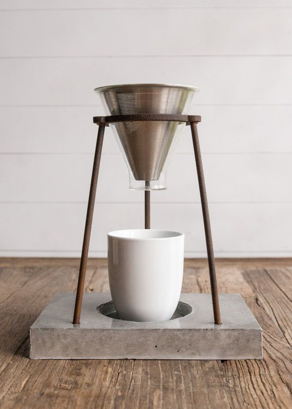 Coffee Pour Over Stand by DuskwoodPlace on Etsy