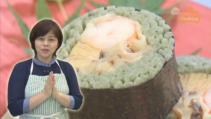 おうちで簡単プロの味!クッキング 「蓬うどんを使ったそば寿司風」