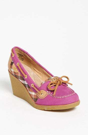 Sperry Top-Sider® 'Goldfish' Wedge (Nordstrom Exclusive) available at #Nordstrom. My new shoes. Can't wait fall to wear them!!!