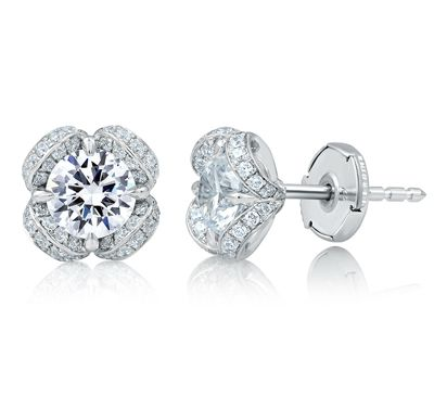 Floral Diamond Earrings perfect for any occassion by A. JAFFE since 1892