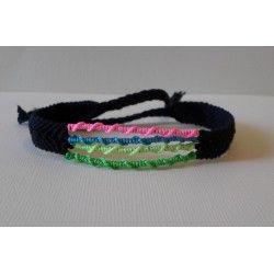 Bracelet chevron +wrap 4 couleurs