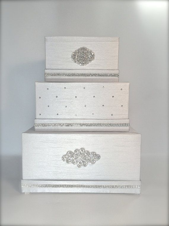 Hey, I found this really awesome Etsy listing at https://www.etsy.com/listing/250379302/wedding-money-box-platinum-silver