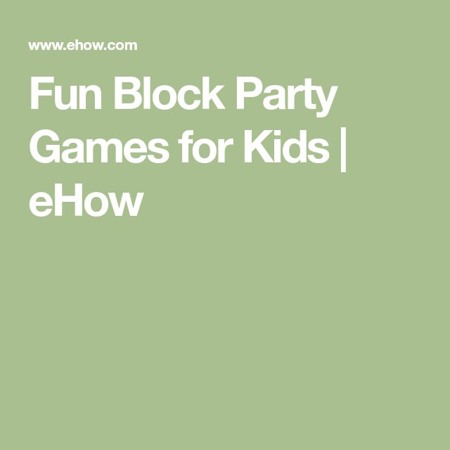 10 Surprisingly Fun Housewarming Party Games To Host The: Best 25+ Block Party Games Ideas On Pinterest