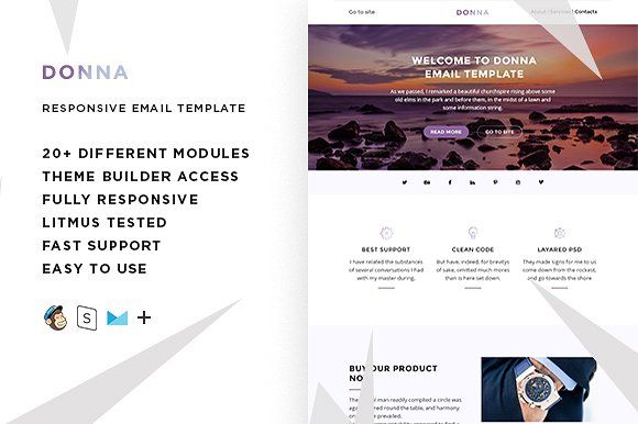 Donna – Email template + Builder  @creativework247