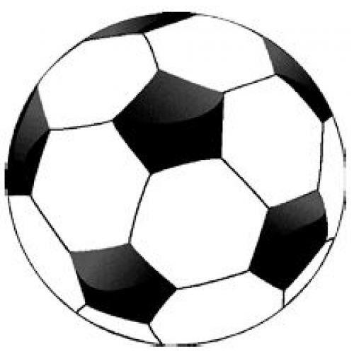 Non-license Vloerkleed Voetbal: 80x80 cm