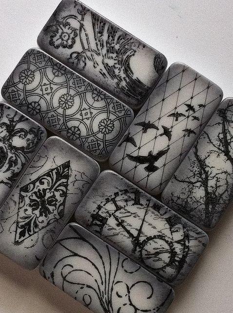 domino art, via shellyski's creations on Flickr
