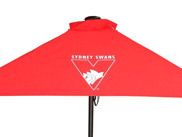 One of our clients jobs! Printed logos available on any of our Sunranger Umbrellas. 2.1m Square Outdoor Umbrells Sunranger Cafe Series