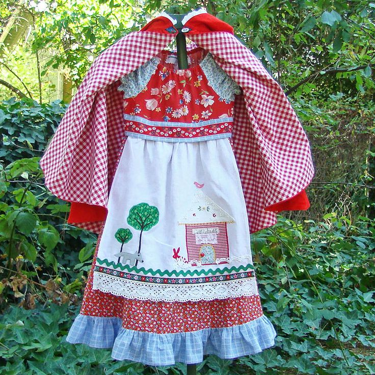 Little Red Riding Hood Costume Dress by reimaginedtreasures, $65.00