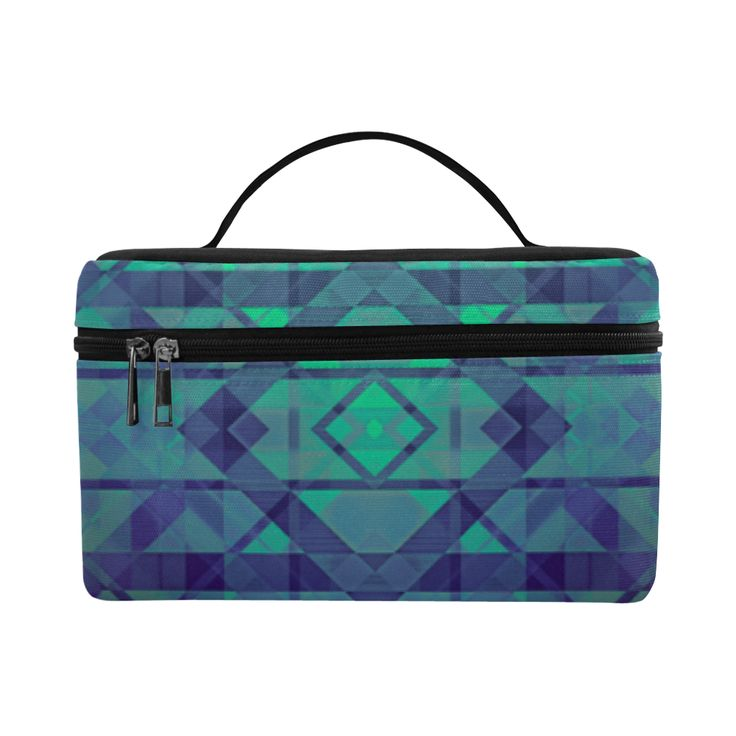 Sci-Fi Dream Geometric design pattern Modern style Cosmetic Bag/Large by Scar Design. #toiletrybag #toiletry #cosmeticbag #travelbag #travel #weekendtravelbag #family #onlineshopping #shopping #artsadd #gifts #scardesign #bag #style #fashion #giftsforhim #giftsforher #39 #design #modern  #geometric #toiletrytravelbag